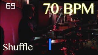 70 BPM Shuffle Beat - Drum Track