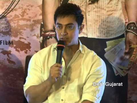 Aamir Khan, Anushka Sharma in interaction about PK in Ahmedabad Gujarat