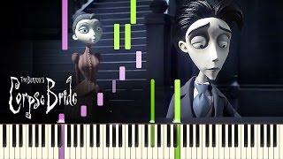 [PIANO TUTORIAL] Victor's Piano Solo - Tim Burton's Corpse Bride (Piano Cover, Synthesia, Movie)