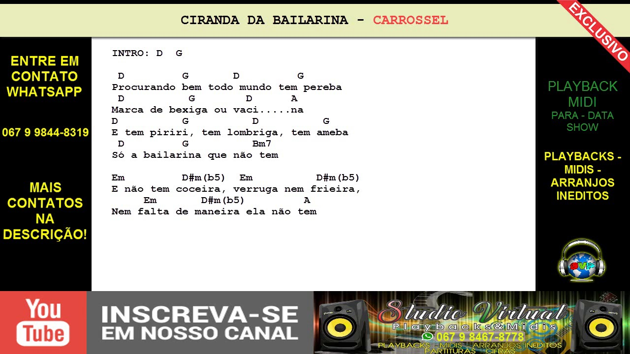 BAILARINA DA CARROSSEL BAIXAR MUSICA CIRANDA