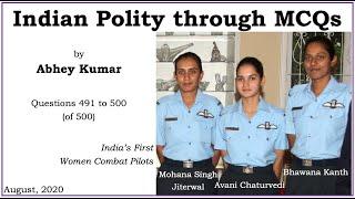 Indian Polity through MCQs by Abhey Kumar - Q491 to Q500