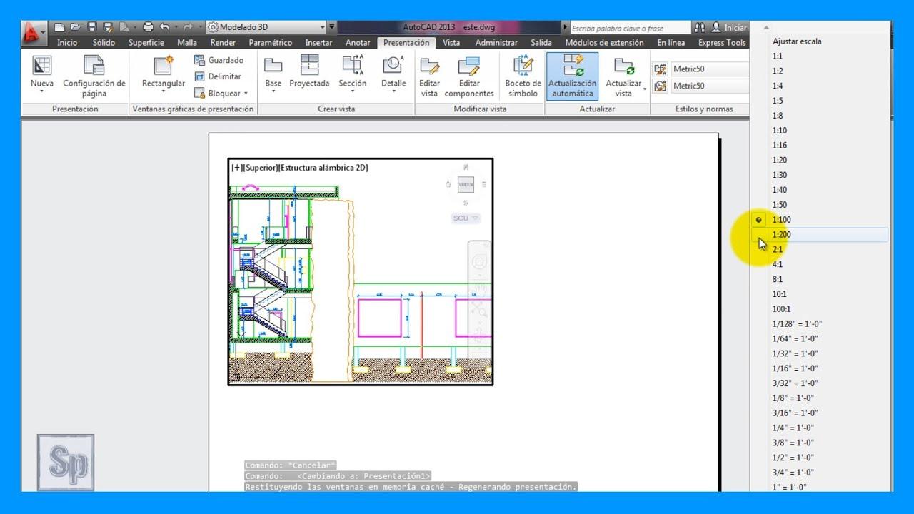 Autocad escalas presentaci n a escala para imprimir for Programa para hacer planos a escala