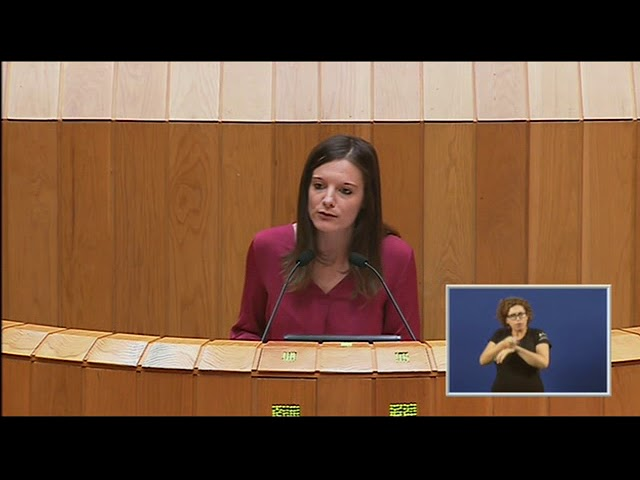 Intervención de Olalla Rodil defendendo as propostas de resolución do BNG