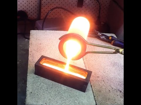 Making a Copper Ingot from Braided Copper Wire