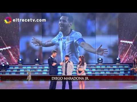 Diego Jr. bancó a Messi y dijo que es el mejor jugador del mundo