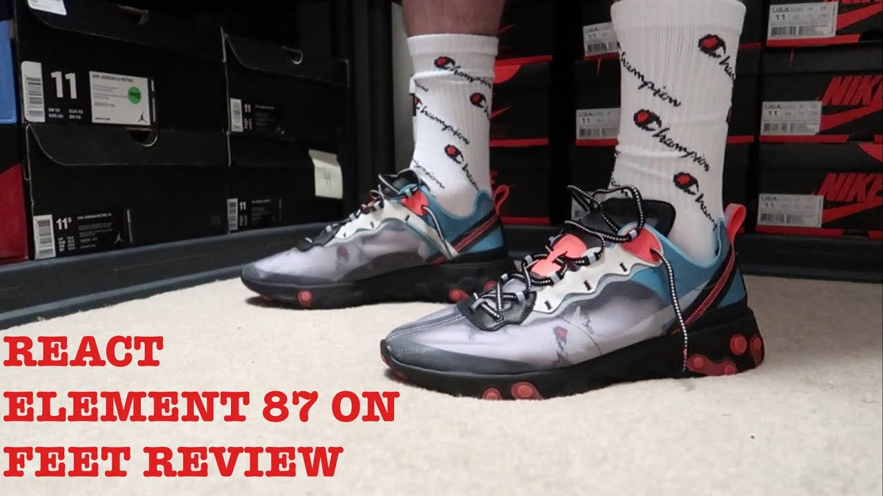 f9115ec0ad52d REVIEW AND ON FEET OF THE REACT ELEMENT 87 SOLAR RED!!! - YouTube