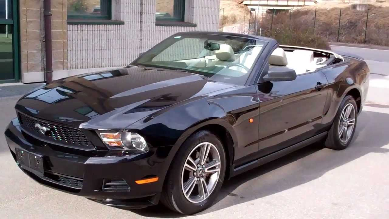 carcompany bolzano 2010 ford mustang 4 0 v6 premium convertible black beige youtube. Black Bedroom Furniture Sets. Home Design Ideas