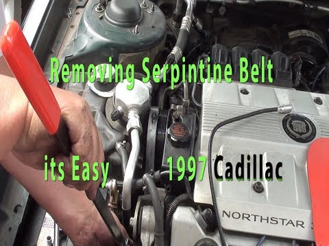 Cadillac – Deville Northstar – How to replace your serpentine belt – what mechanics won't tell you