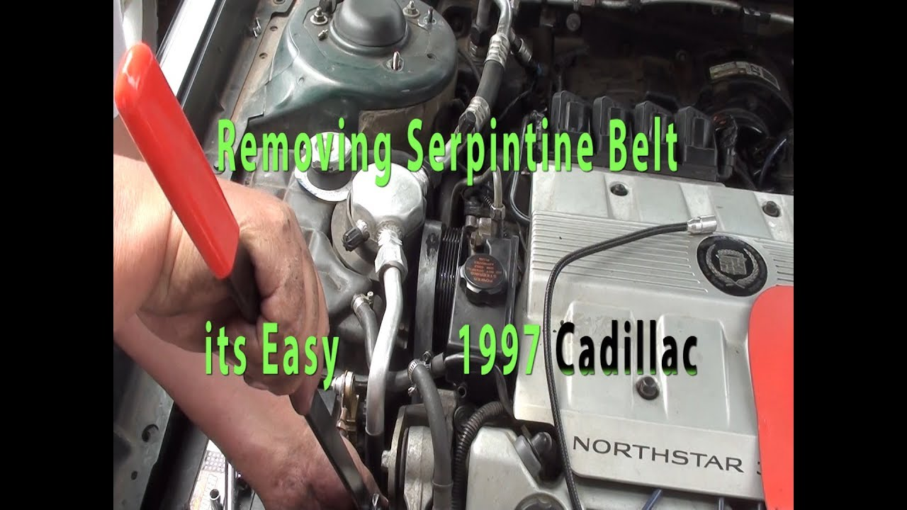 how to replace serpentine belt 93 1999 cadillac deville northstar chevrolet corvette belt diagram cadillac 49 belt diagram [ 1280 x 720 Pixel ]