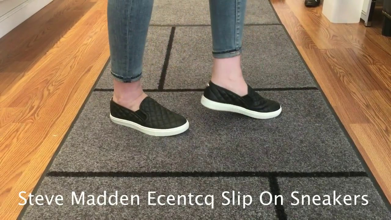 b8bbdbc273 Steve Madden Ecentrcq Women s Slip-On Sneakers - YouTube