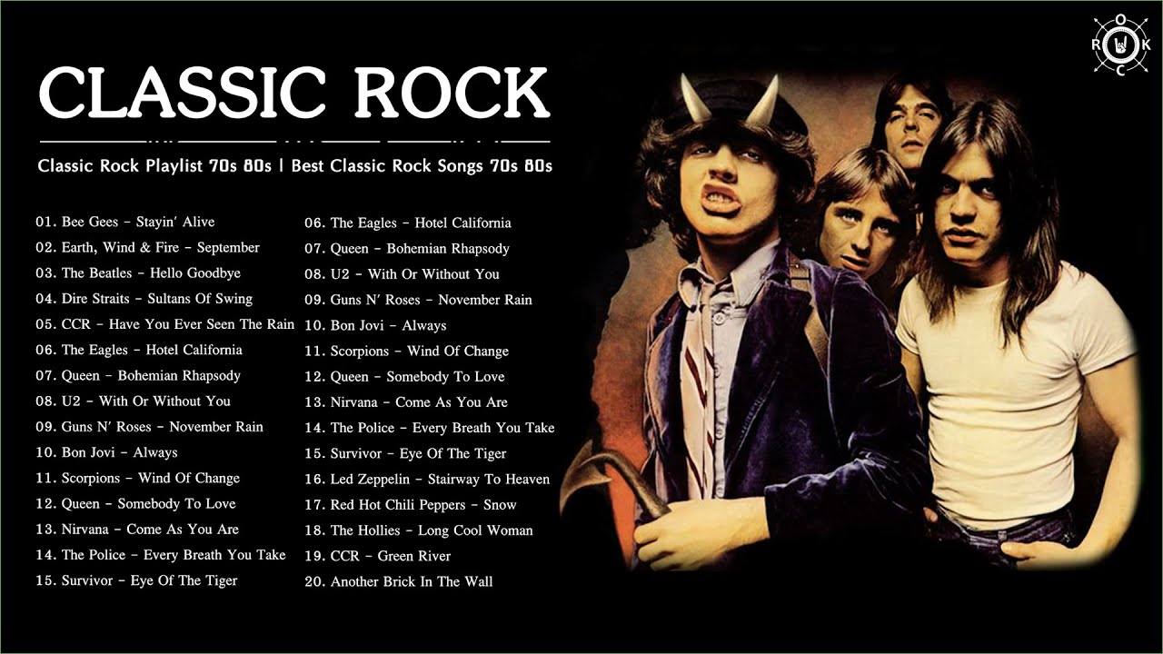 Classic Rock Playlist 70s And 80s Best Classic Rock Songs Of 70s 80s Youtube