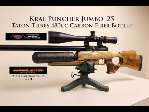 Kral Puncher Jumbo  25 -Talon Tunes bottle & Annihilator Airguns and Tuning  Valve 60FPE