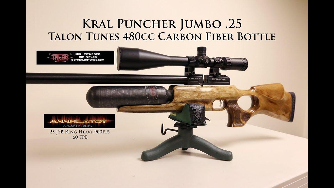 Kral Puncher Jumbo  25 -Talon Tunes bottle & Annihilator Airguns and Tuning  Valve 60FPE