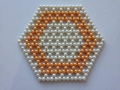 How to make beaded table mat   DIY table mat   Beads art