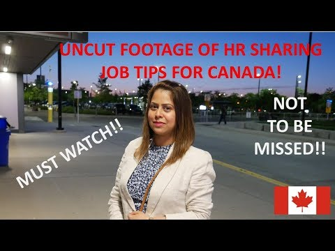 Job Tips By HR Professionals | How To Get A Job In Canada | How To Get Job In Canada From India 2018