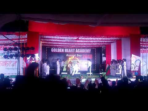 Awesome performance by Golden heart academy students at annual day function