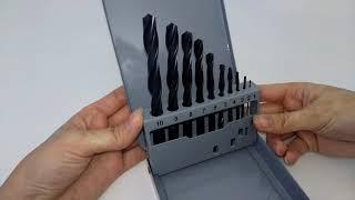 Обзор набора сверл НС-9И ГОСТ 10902-77 сталь Р6М5 от компании Томский Инструментальный Завод