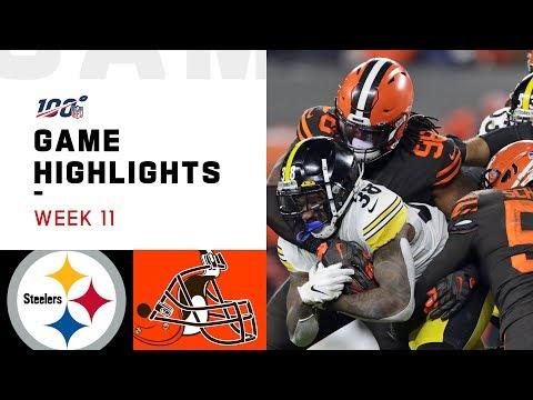 Steelers vs. Browns Week 11 Highlights | NFL 2019