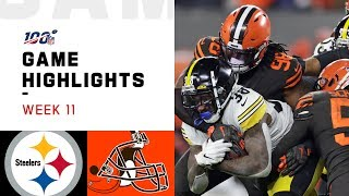 Download Steelers vs. Browns Week 11 Highlights | NFL 2019 Mp3 and Videos