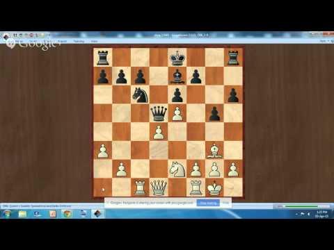 Chess game analysis: game 1