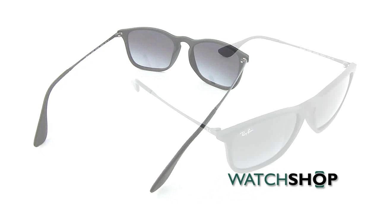 c468a6a3471 Ray-Ban Men s Chris Sunglasses (RB4187-622 8G-54) - YouTube