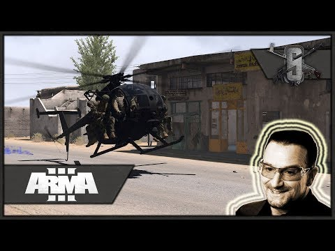 Rescuing Bono New Year's Eve Concert - ArmA 3 - A-10 Airstrikes Galore