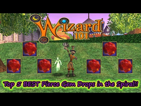 Wizard101 Top 5 Pierce Jewels Drop Locations in the Spiral NO MORE RAZORS