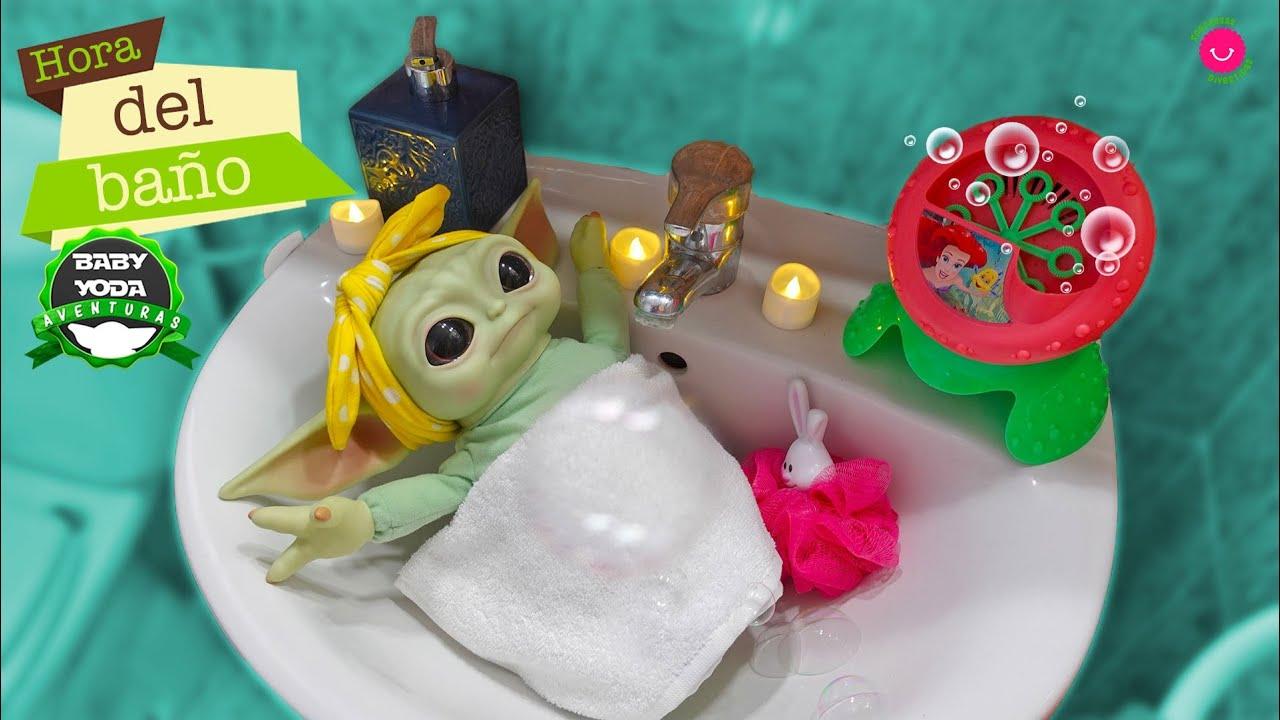 Baby Yoda quiere darse un baño 🛁