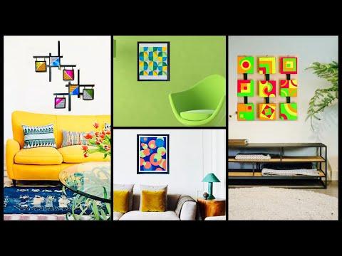 4 Craft Ideas For Home Decor Abstract Wall Art Wall Decoration Ideas Gadac Diy Room Decorating Ideas Youtube
