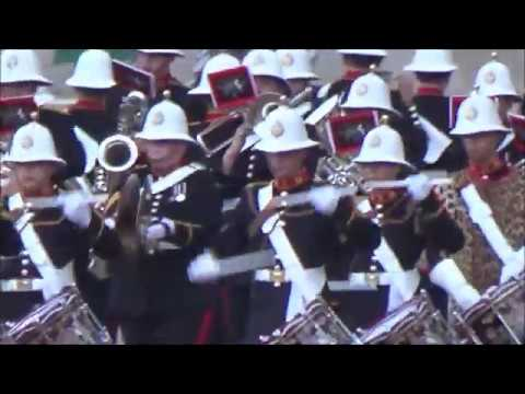 The Massed Bands of HM Royal Marines Beating Retreat 2018