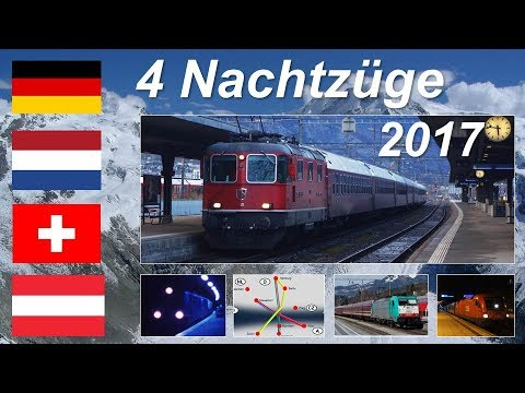 Nachtzug-Überblick Rhein/Alpen Anfang 2017: CNL wird ÖBB, Schweiz-Turnuszug neu, Skizüge Niederlande