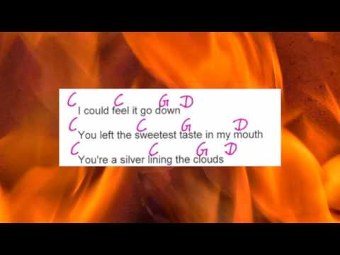 The Hardest Part - Coldplay - Lyrics and Chords - Campfire Version - Musikschach