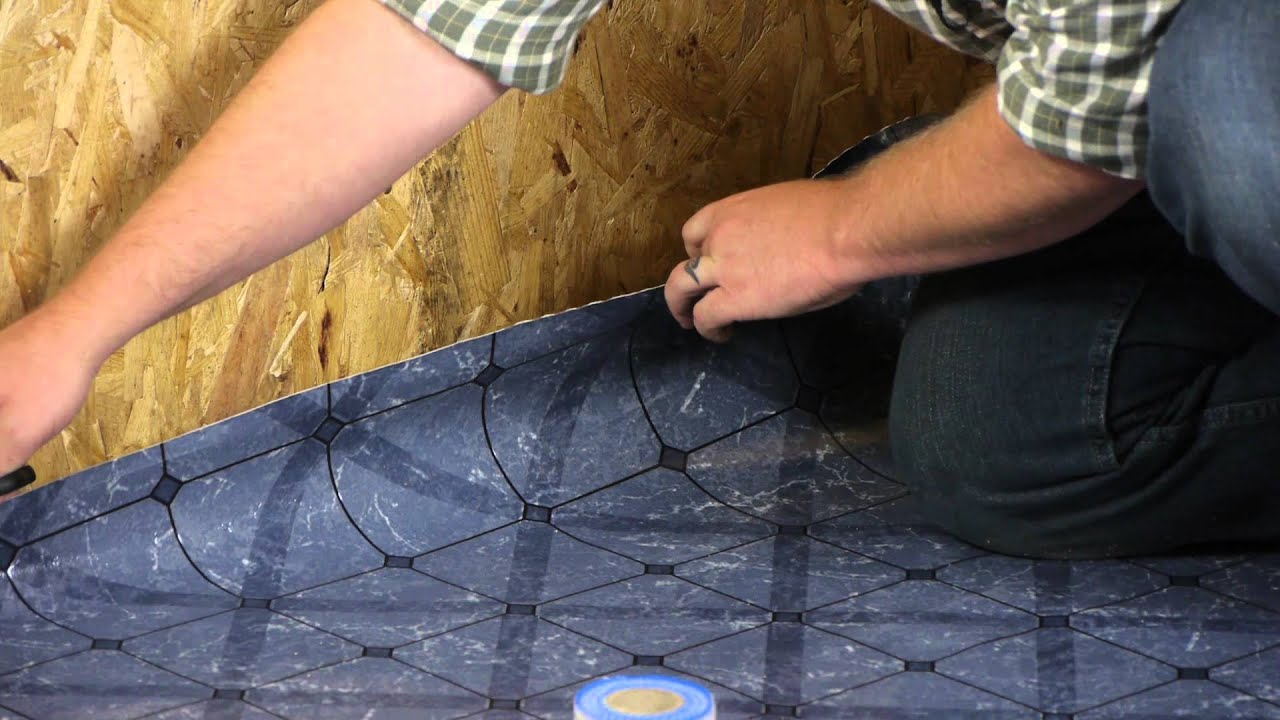 How To Install Vinyl Sheet Flooring With DoubleSided Tape - Installing sheet vinyl flooring