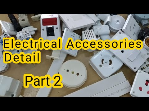 Electrical Accessories List Part 2 Wiring Material Names Wiring Ka Saman Youtube