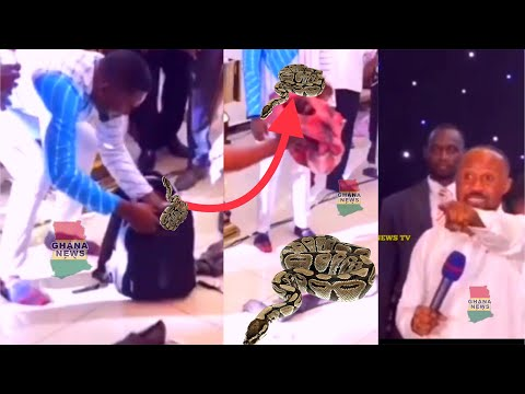 Vicky Zugah's Prophet Catches SIKADURO/ OCCULT Man With HUGE Snake In His Bag At His Church Live