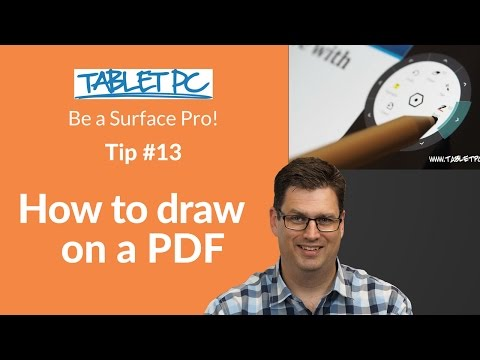 Be a Surface Pro! How to draw on a PDF