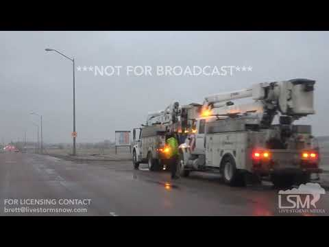 04-10-2019 Sioux Falls, SD Evening Ice Storm And Car Wreck