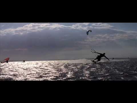 Kiteboarding at Wellington Point 2014