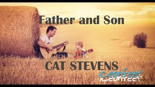 Father and Son - Karaoke - Guitar Backing Track with Lyrics