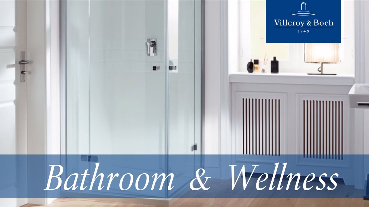 New bathroom design - MetalRim shower trays | Villeroy & Boch - YouTube