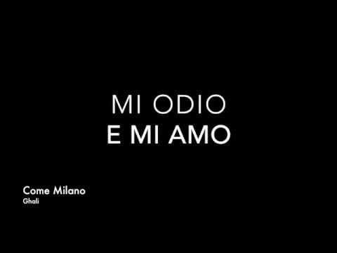 Ghali - Come Milano ( Prod. Charlie Charles ) Testo / Lyrics