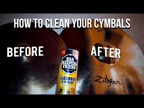 The best/cheapest way to clean your cymbals !!!