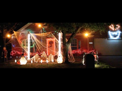 steelman halloween light show 2015 thriller - Halloween Lights Thriller
