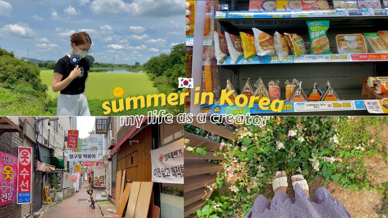 Summer in Korea 🇰🇷 | week in my life as a creator | 📸 behind the scenes