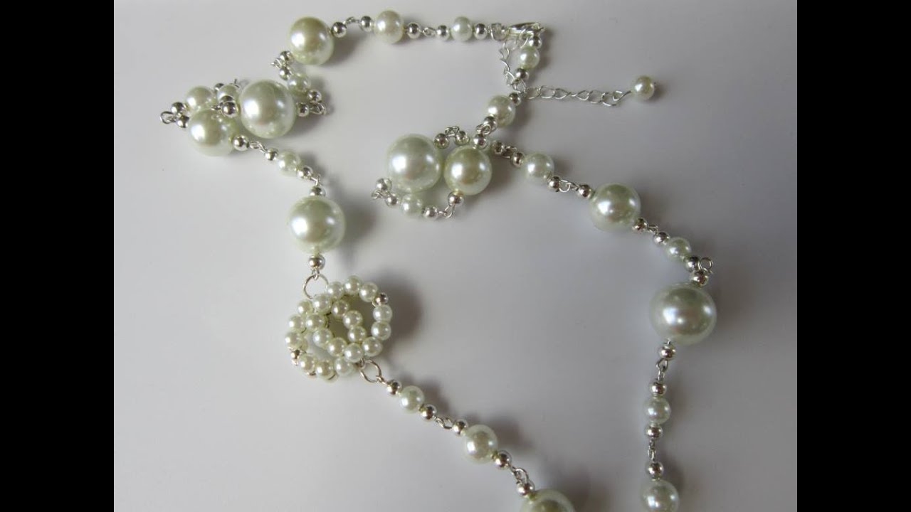 Chanel Style Pearl Necklace Diy  Бусы Chanel