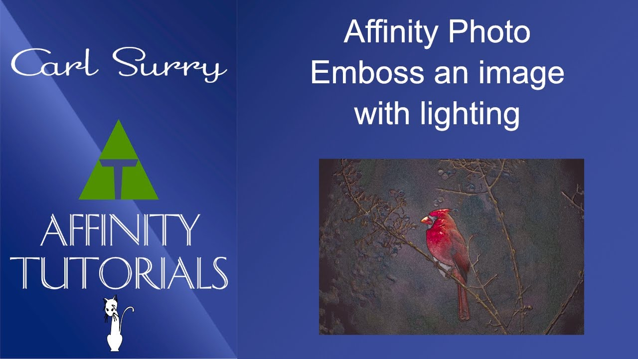 Affinity Photo - Emboss with Lighting