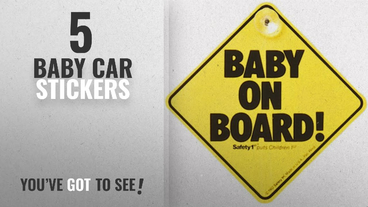 pink BABY ON BOARD white gloss VINYL car window sign with suction cups