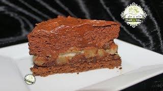 Gâteau chocolat et Poires --- حلوى بالاجاص وموس الشوكولاطة بدون جيلاتين