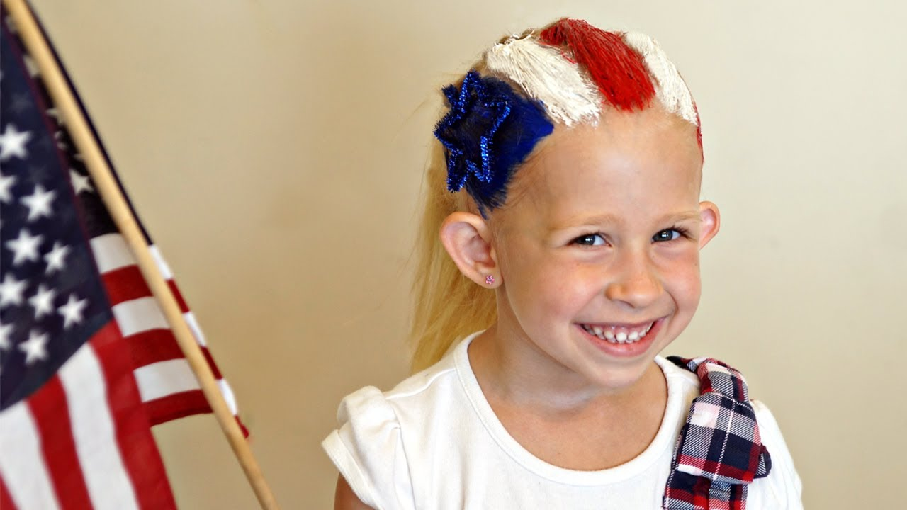 Hair Styles For Braids Pictures: 4th Of July Flag Hairstyle // Hair 101 Cute // Tutorial