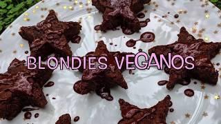 Blondies Veganos (que parecen brownies)
